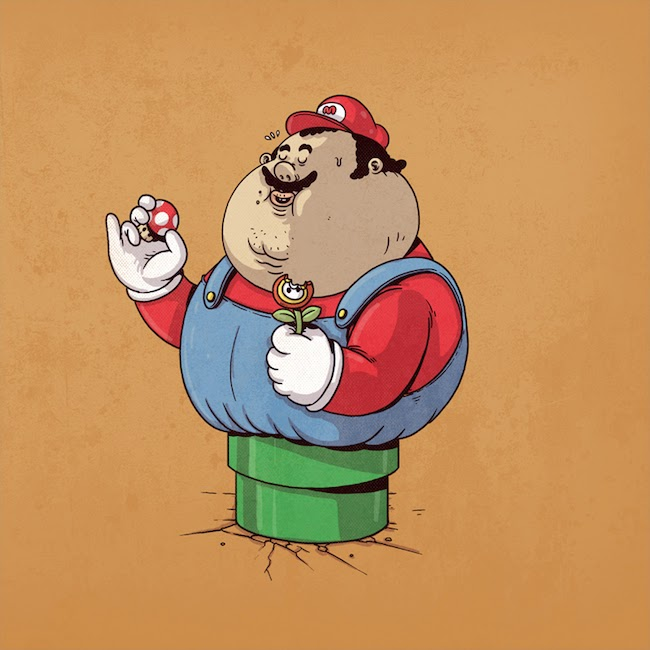Fat Super Hero Gemuk - Fat Mario Bross