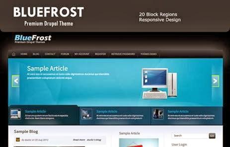Blue frost – Premium Drupal 7 Theme