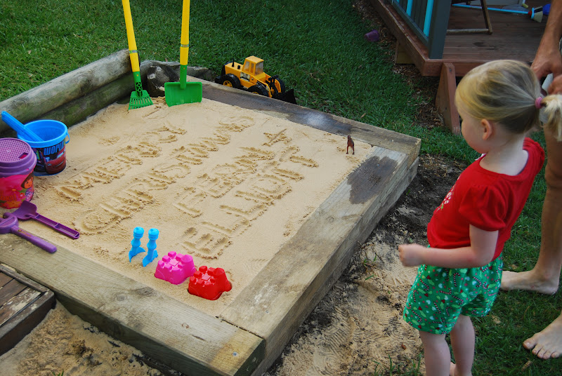 Backyard Sandpit : Bubby Makes Three Why you probably DONT want a sandpit