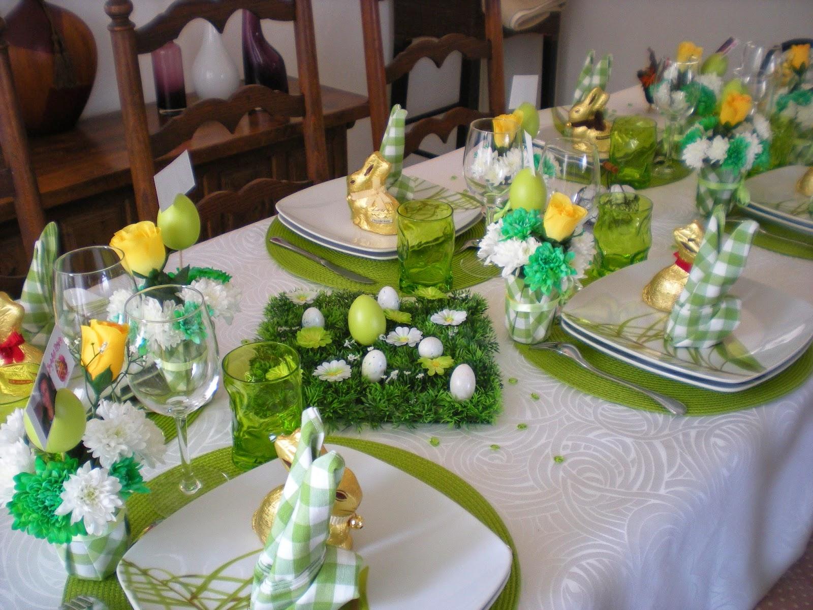 Vous pouvez trouver trois autres d cos de table pour for Centre de table vert anis