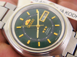 ORIENT CRYSTAL GREEN DIAL - AUTOMATIC