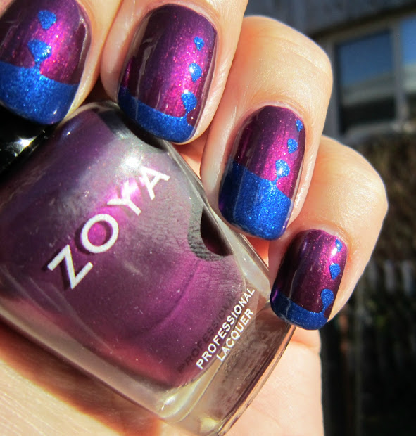 concrete and nail polish smartnails