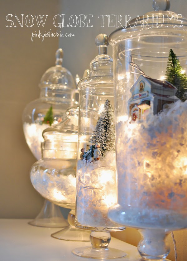 Christmas Door Decorating Ideas Snow Globe : Goodwill tips diy holiday mantel decorating ideas