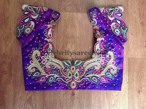 Lovely Silk Blouse Designs