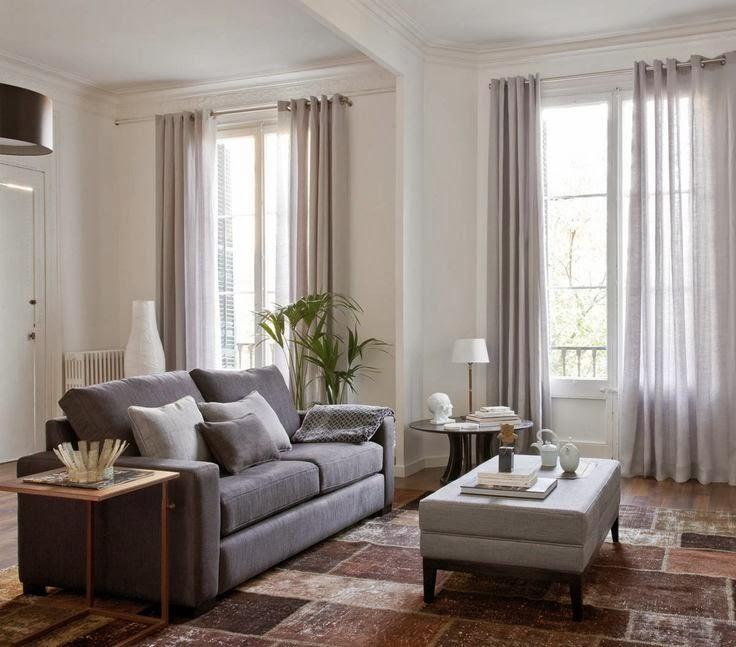Ventanas que se visten con visillos for Cortinas para salon gris
