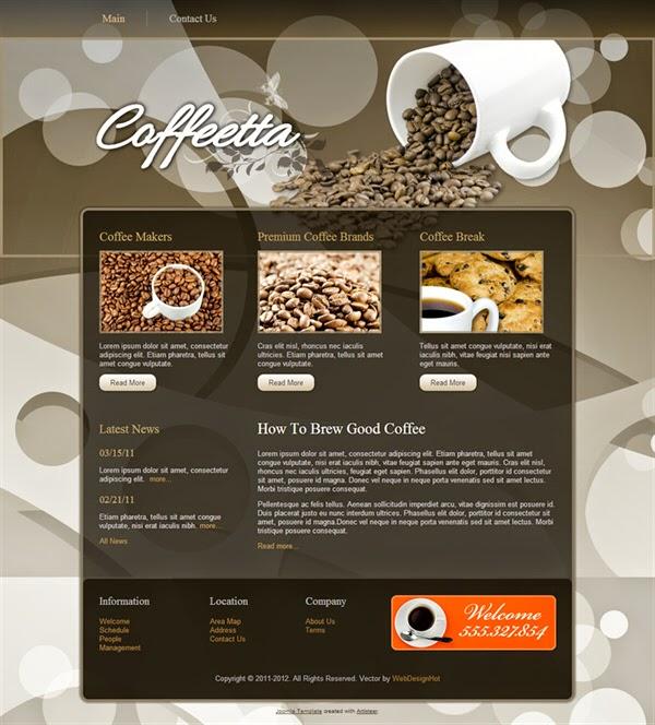 Coffeetta - Free Joomla! Template