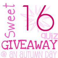 Sweet 16 Quiz Giveaway!
