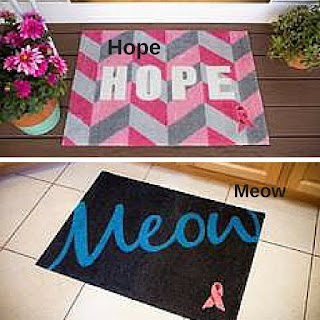 Carpet One Welcome a Cure Mat  giveaway for breast cancer awareness month