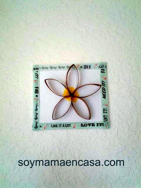 hacer cuadros simples reciclando rollos de papel higienico