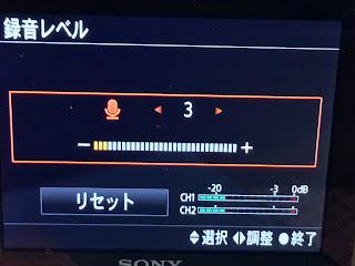 録音レベル