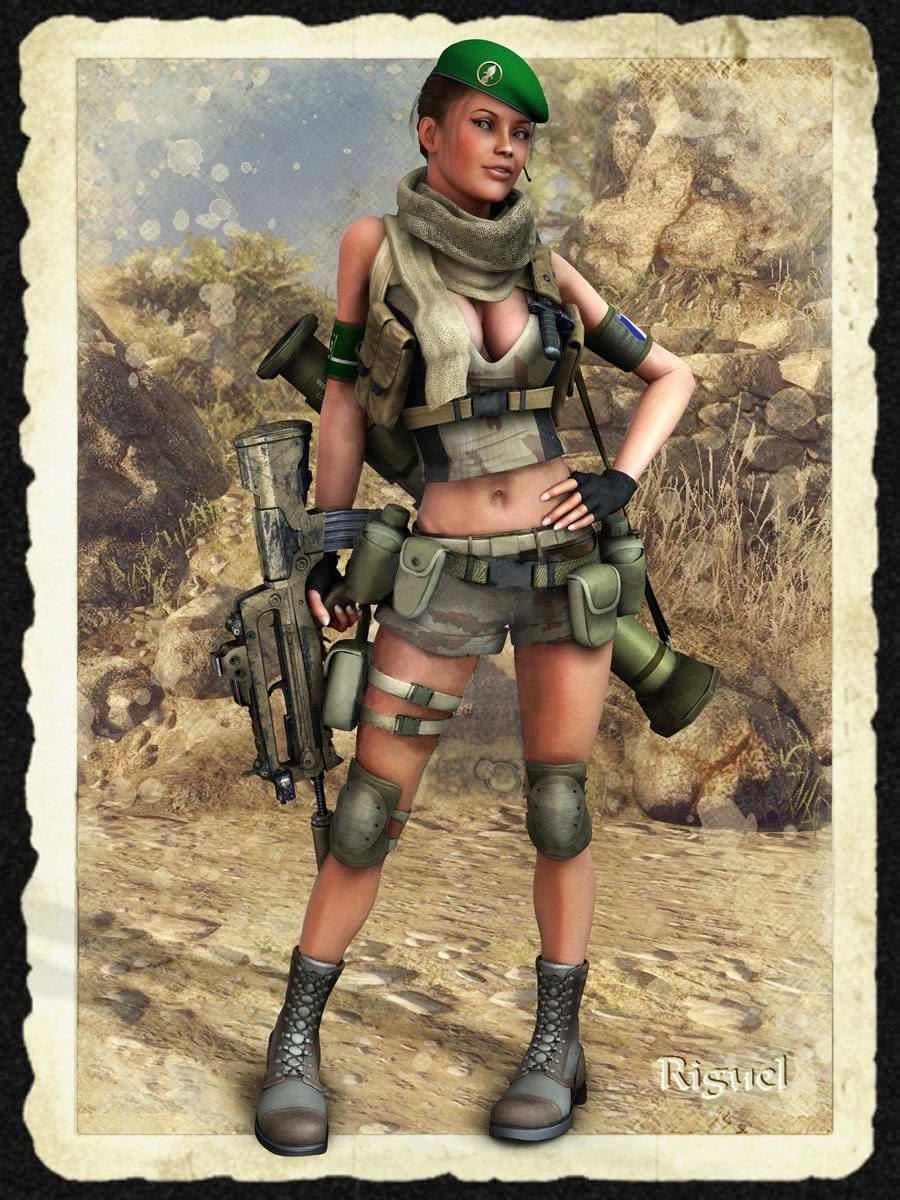 Рисованные девушки в военной 10 фотография