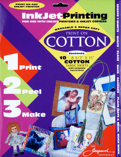 Threads And Snippets Fun With Ink Jet Printable Cotton