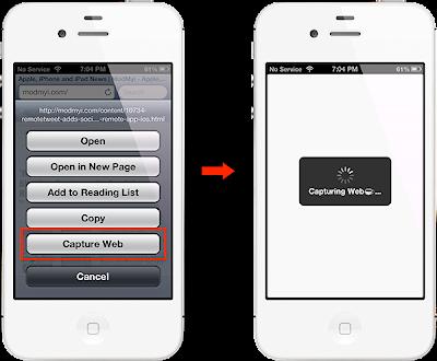 Pulsando el ultimo boton seleccionamos Capture Web