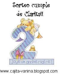 Sorteo Por los 2 añitos de Clarita...
