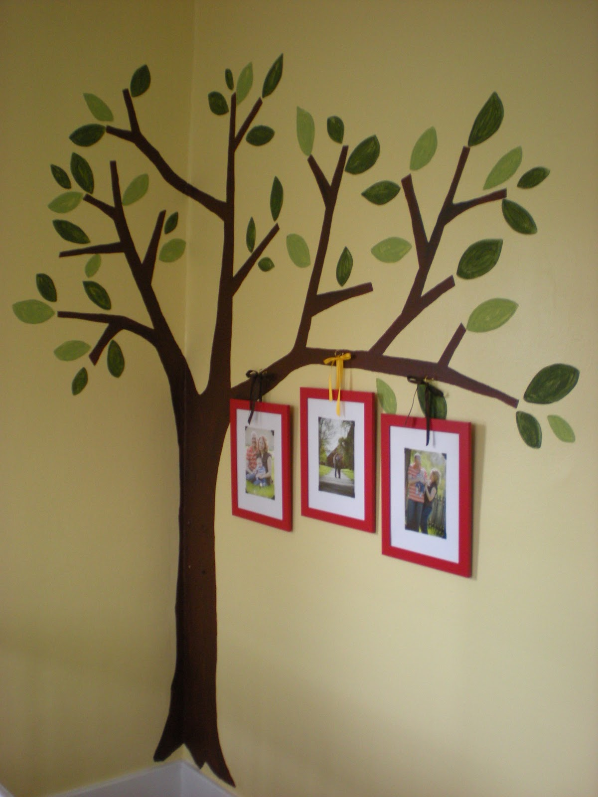 Joy 2 sew tree wall mural completed for Church mural ideas