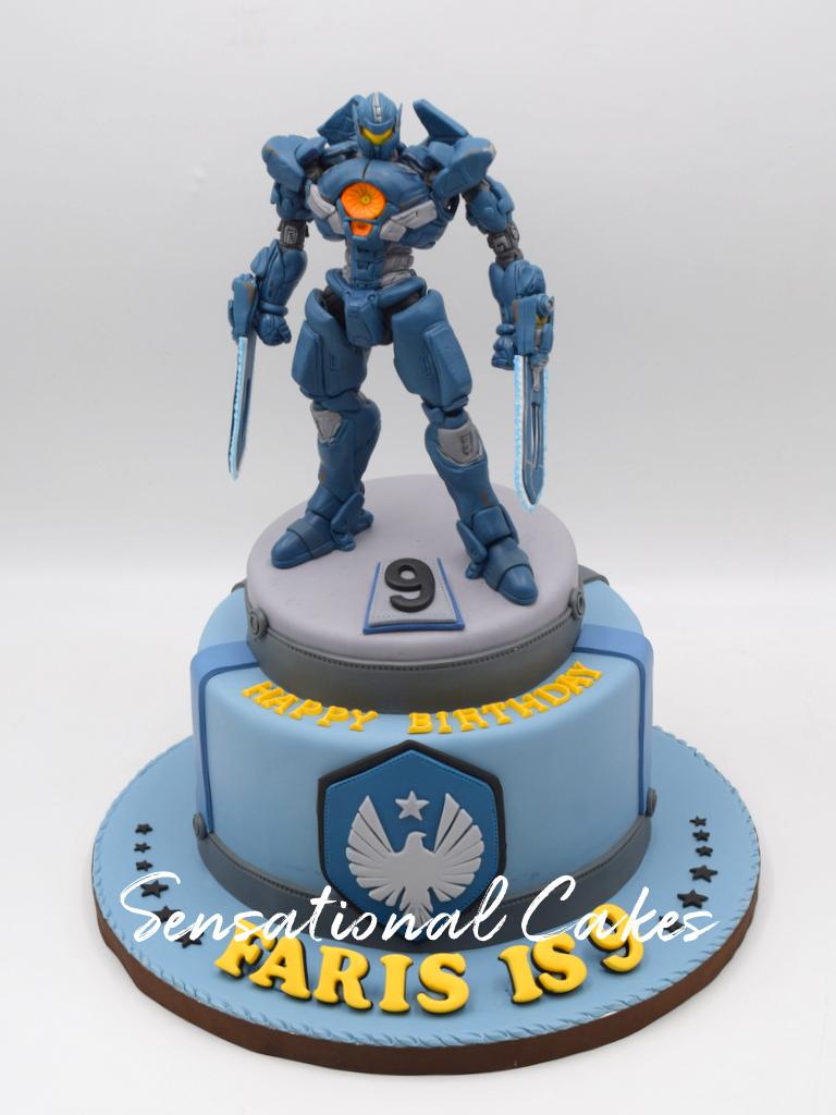 Pacific Rim Jaeger Robot Inspired Boys Theme Customized Cake Singapore Pacificrimcake Robotcake