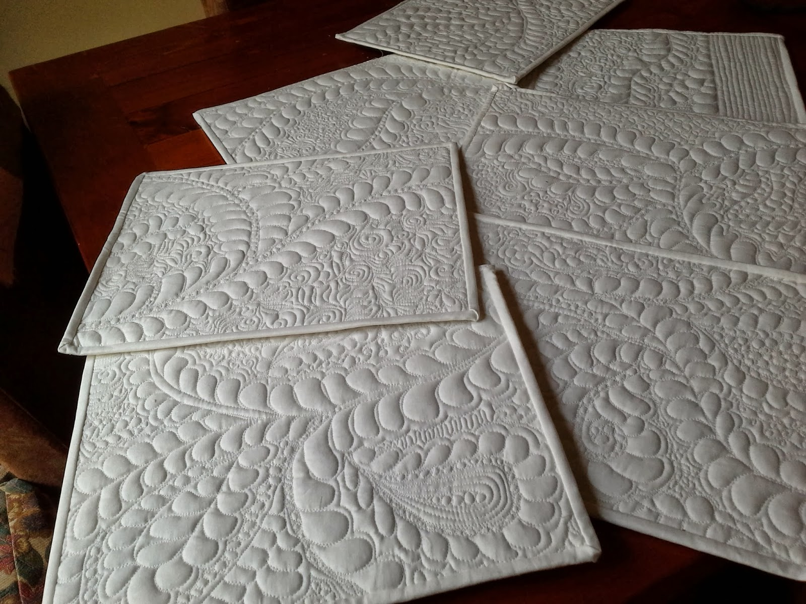 Serendipity Design Quilted Table Mats For Practice Pieces
