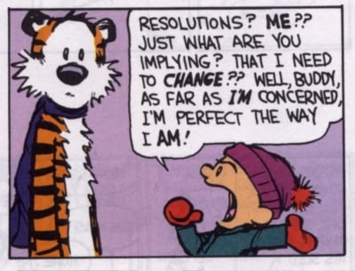 calvin & hobbes new year's resolution