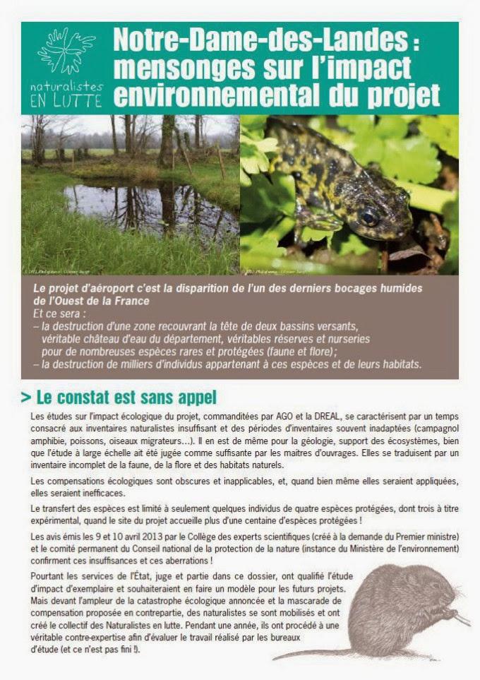 Notre-Dame-des-Landes : mensonges sur l'impact environnemental du projet