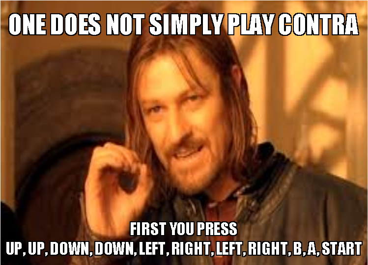 Contra+Meme the retro gaming geek what ever happened to cheat codes? review