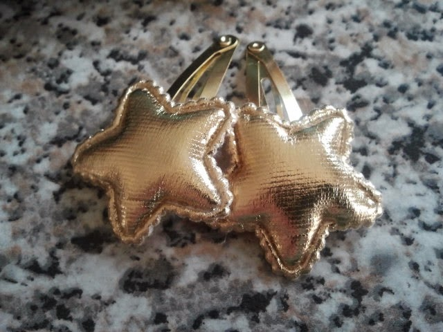 Hair accessories - star stuffed clips H&M