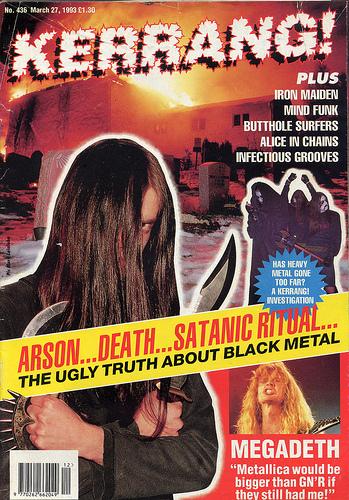 Kerrang! No. 436 March 27, 1993 Black Metal Varg Mayhem Emperor Euronymous Venom