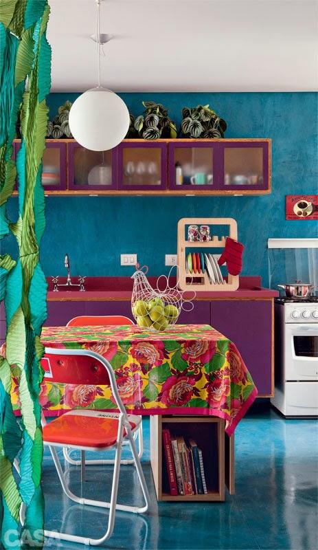 Bold colorful apartment, interior design