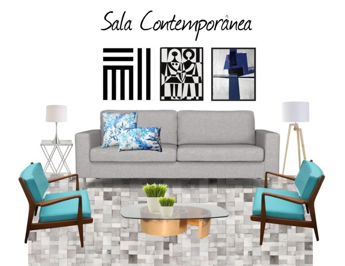 Sala De Estar Moderna ~  de sala – 45 salas de estar decoradas # decoracao alternativa de