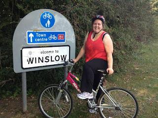 Pippa on her Bike