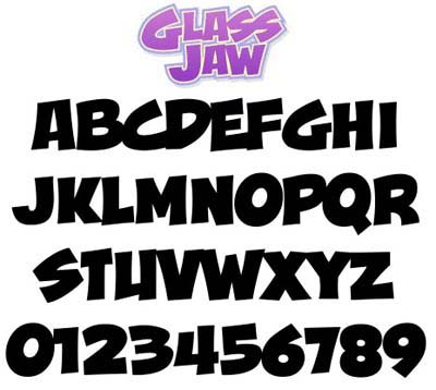 Graffiti Alphabet Font Glass Jaw