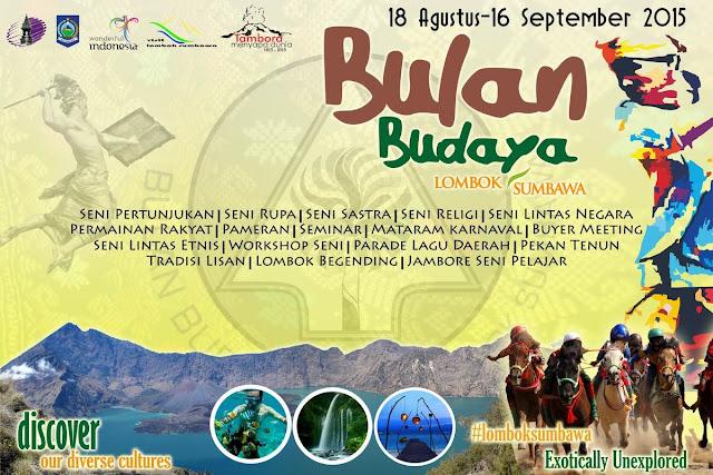 Event Bulan Budaya Lombok Sumbawa 2015
