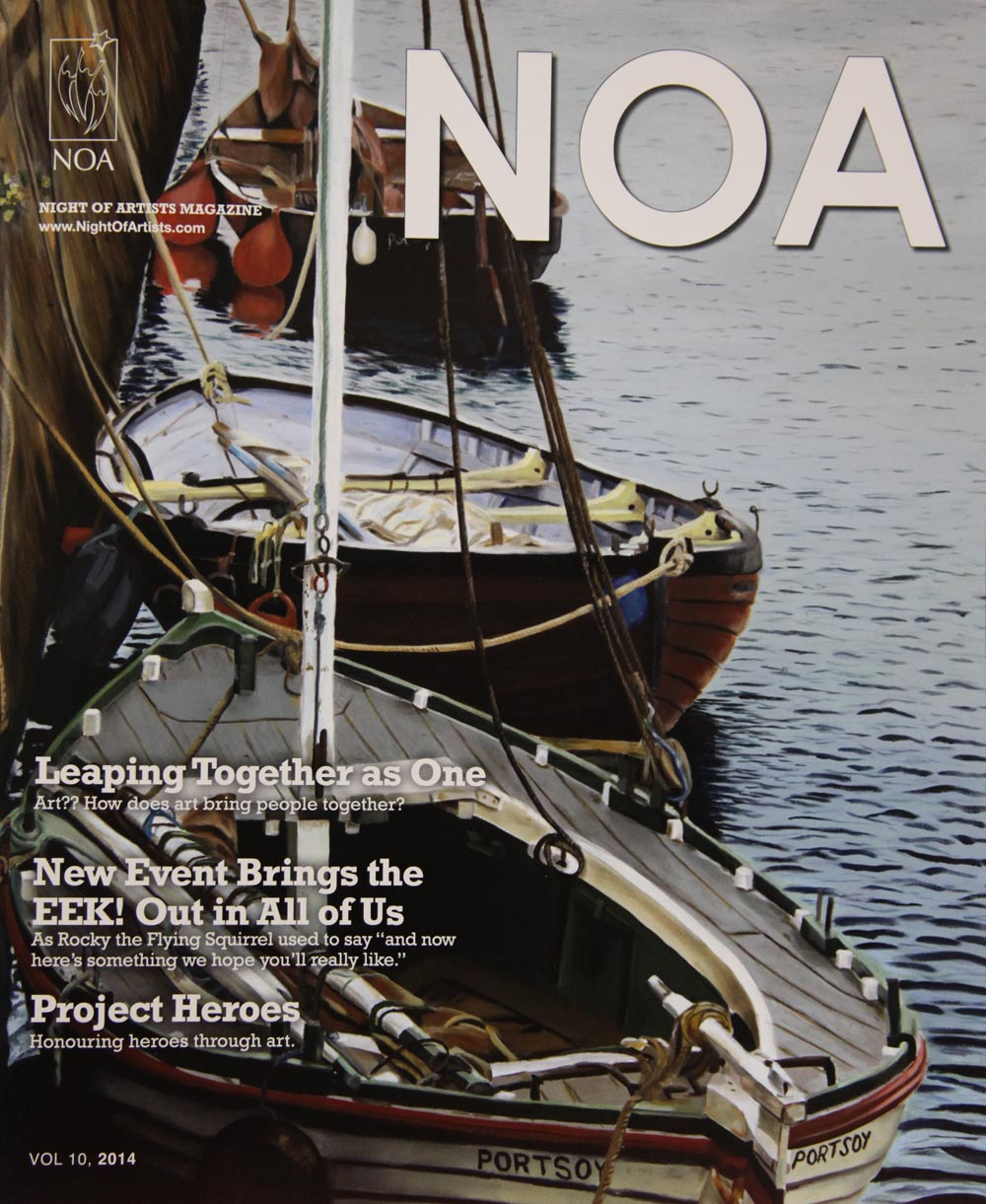 Boats at Portsoy ll wins magazine cover contest!