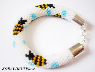bransoletka ręcznie robiona z koralików toho