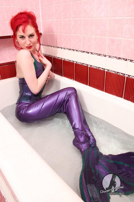 dress purple Blonde milf lace