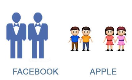 Iconos gay Facebook Apple