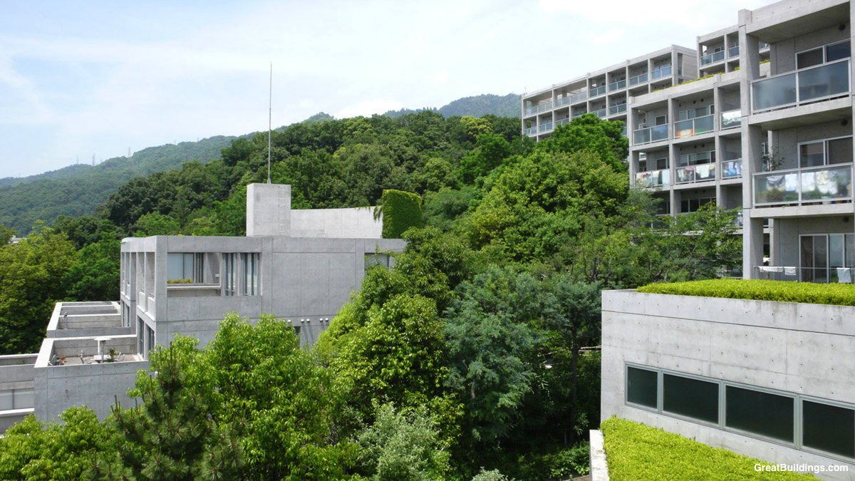 Ando tadao rokko house pinterest - Tadao Came Up With The Idea Of Cutting Off The Slope And Locating The Housing Units Along The Curve Of The Given Slope