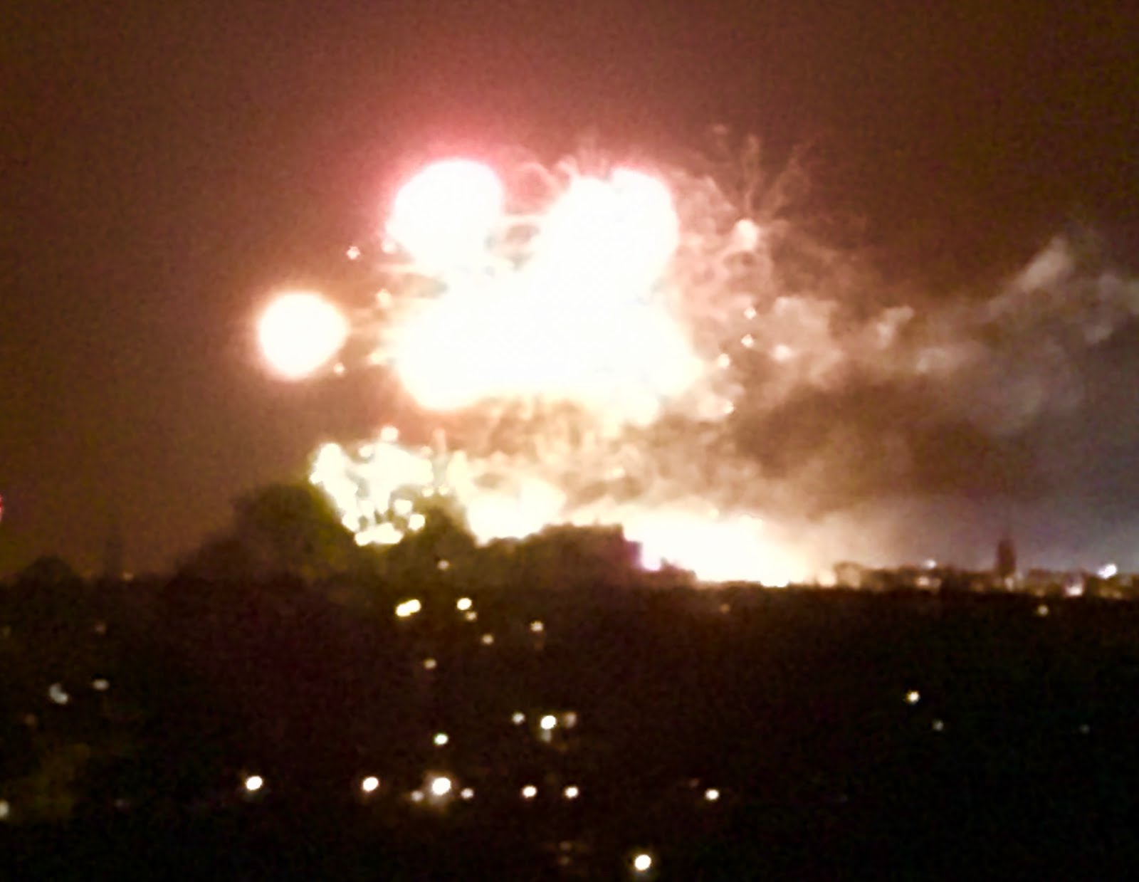Fireworks over Edinburgh Castle...