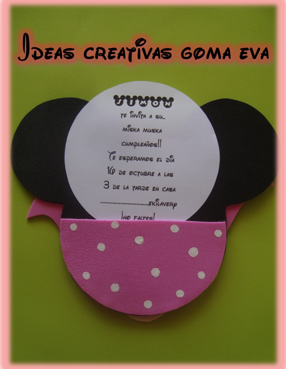 Ideas Creativas Goma Eva: Invitaciones Mickey Mouse