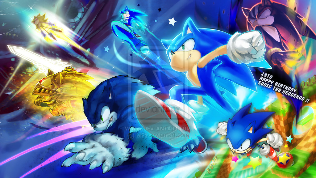 Knuckles vs sonic the werehog sonic super sonic sonic the