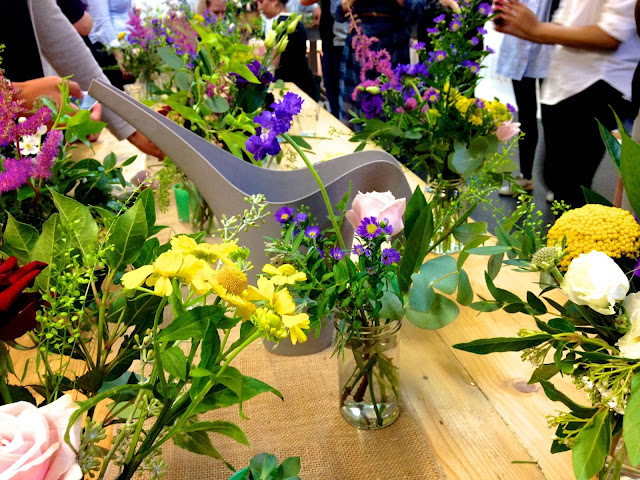 watering jug and flowers with grace and thorn (www.ballpointsandbiscuits.blogspot.co.uk)