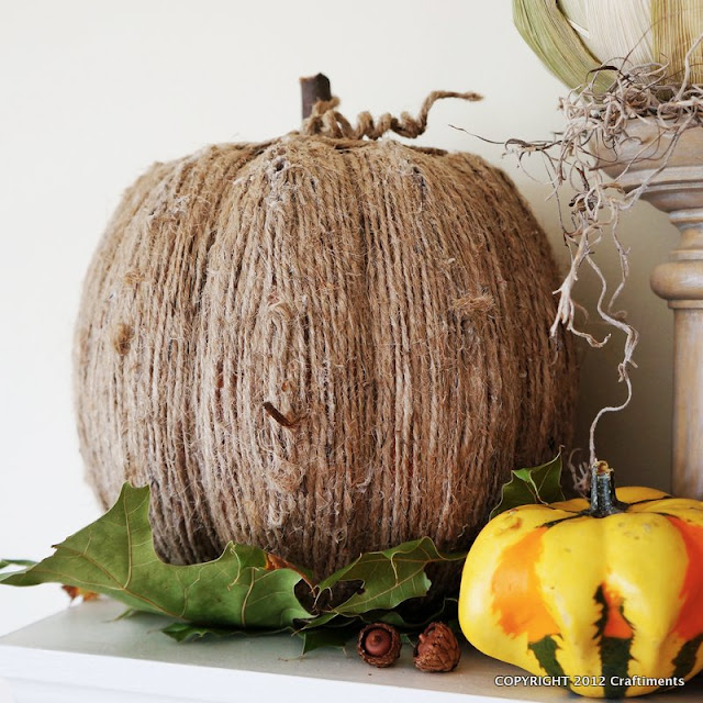 Craftiments:  Twine wrapped pumpkin
