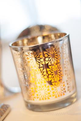 Warm Candle Lit Winter wedding