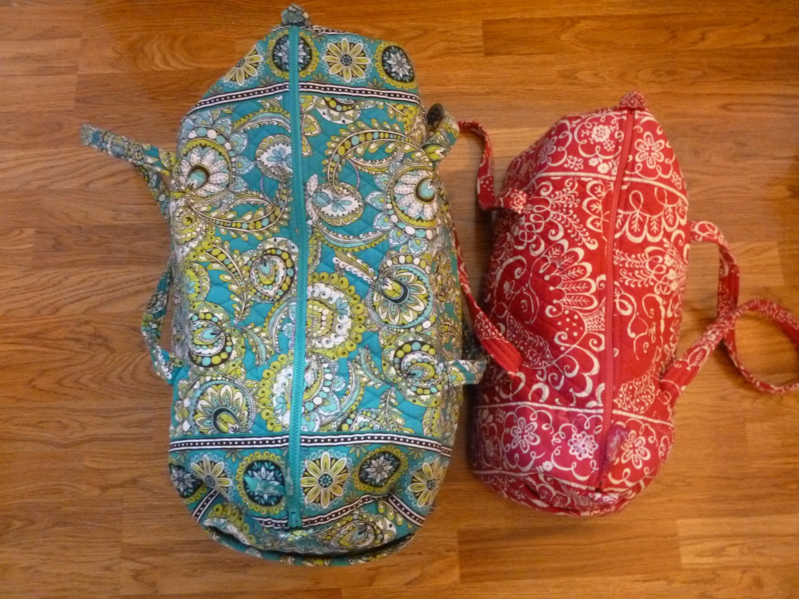 The Vera Vibe Day 2 Small Duffel Vs Large
