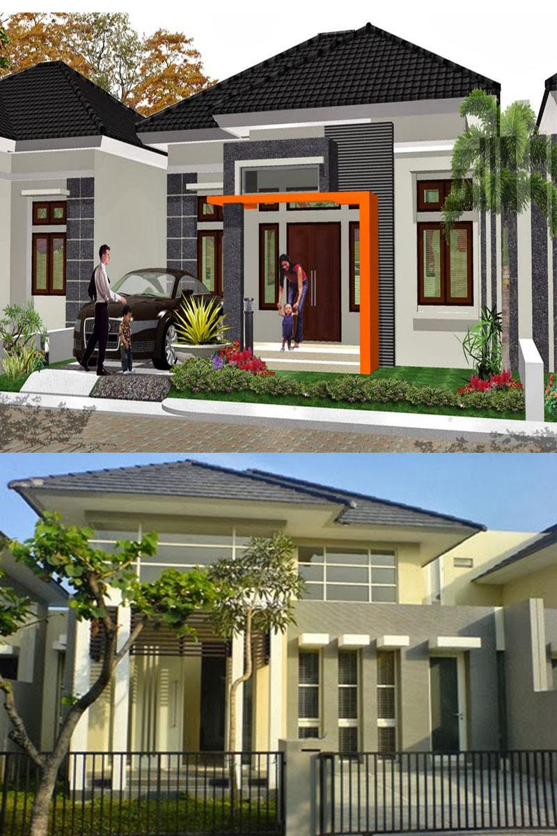 kumpulan desain rumah minimalis modern contoh kombinasi