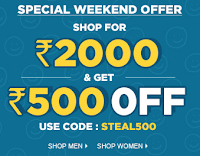 Jabong: Get Rs.300 off on Rs.1199, Rs.400 off on Rs.1599, Rs.500 off on Rs.1999, Rs.700 off on Rs.2599, Rs.800 off on Rs.2999