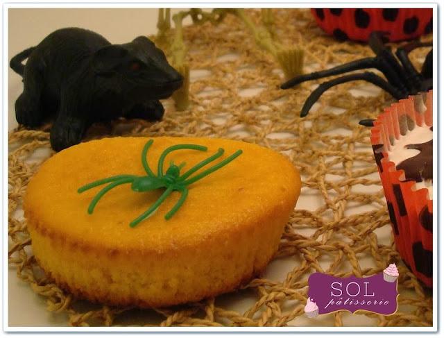 Cupcakes au potiron pour halloween - Cupcakes de abobora para o halloween