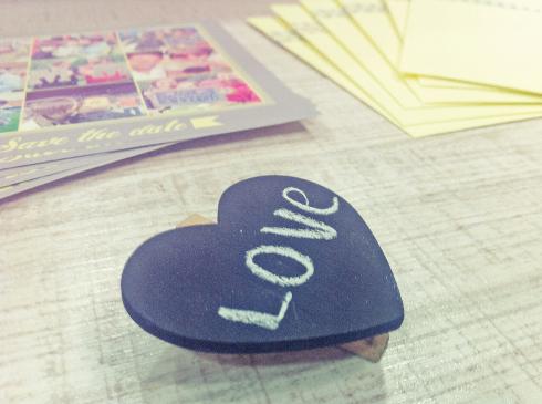 Love pizarra corazón