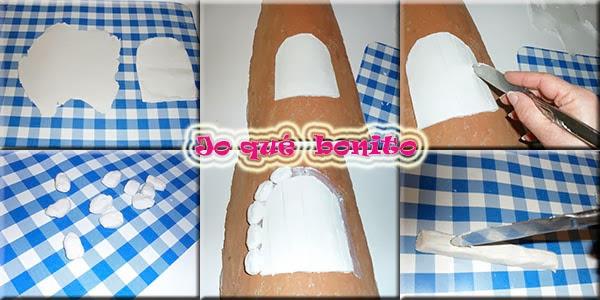 Teja decorada con pasta de papel