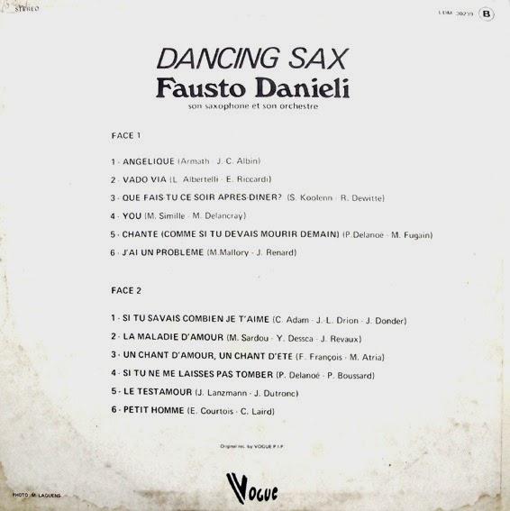 Fausto Danieli Son Saxophone Et Son Orchestre Adagio In Sax
