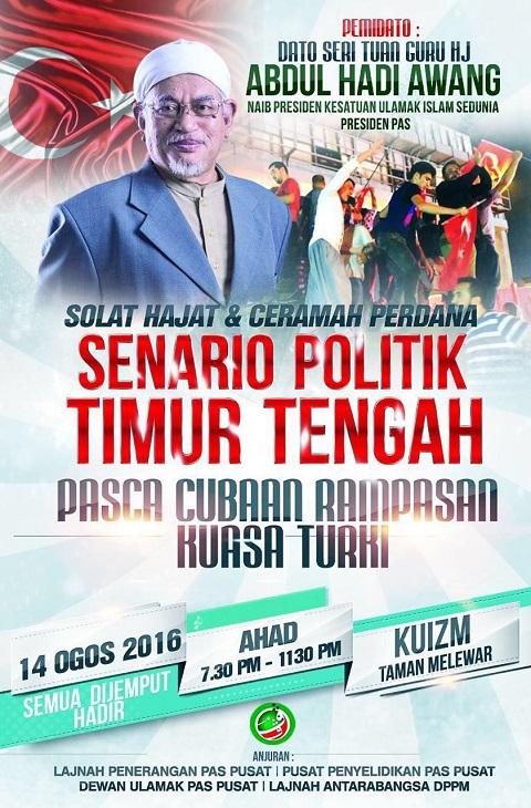 SENARIO POLITIK TIMUR TENGAH-PASCA CUBAAN RAMPASAN KUASA TURKI